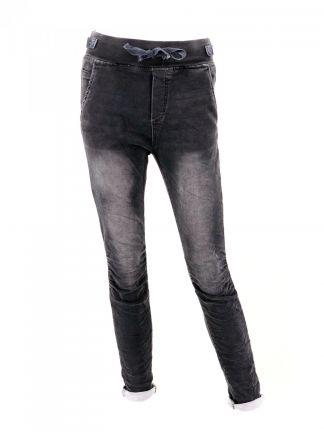 da52e807c628 DERNIER PRIX Jean délavage « jean noir » côte et lien à la taille Melly   Co